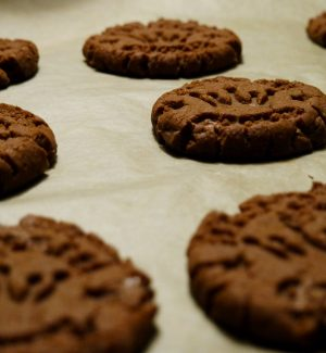 Schoko-erdnuss-kekse