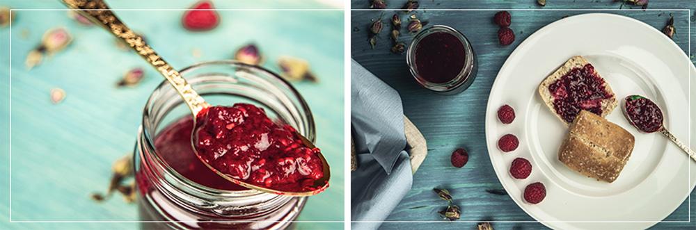 Himbeer-Rosen-Marmelade