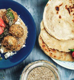 Malawach-mit-Falafel