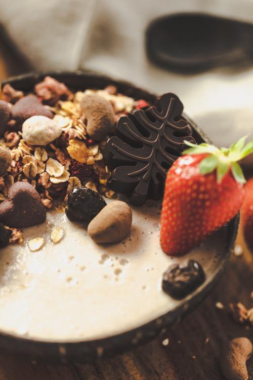 smoothiebowl mit schokolade
